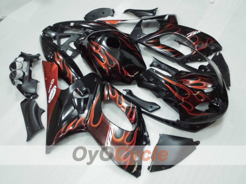 Injection ABS Fairing kit For Yamaha YZF600R 1997-2007 - Orange Black - Flame