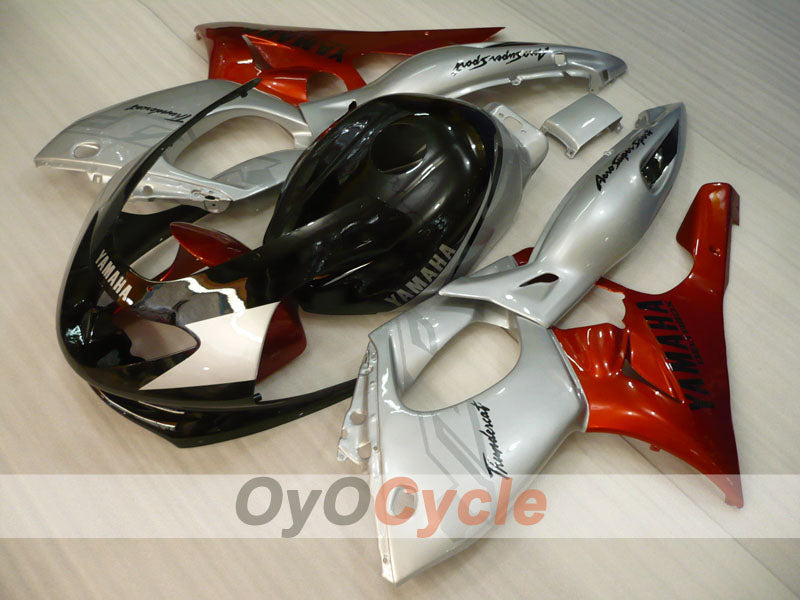 Injection ABS Fairing kit For Yamaha YZF600R 1997-2007 - Orange Black Silver - Factory Style