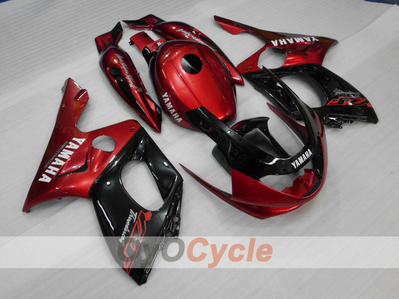 Injection ABS Fairing kit For Yamaha YZF600R 1997-2007 - Red Wine Color, Black - No sticker / decal, Factory Style