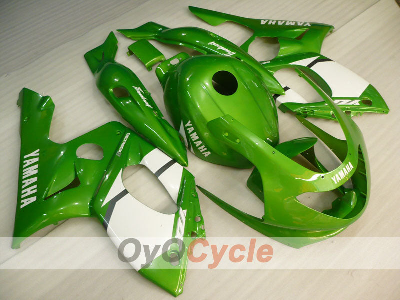 Injection ABS Fairing kit For Yamaha YZF600R 1997-2007 - Green White - Factory Style