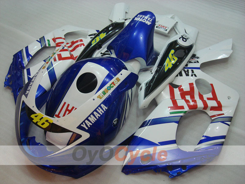 Injection ABS Fairing kit For Yamaha YZF600R 1997-2007 - Blue White - FIAT