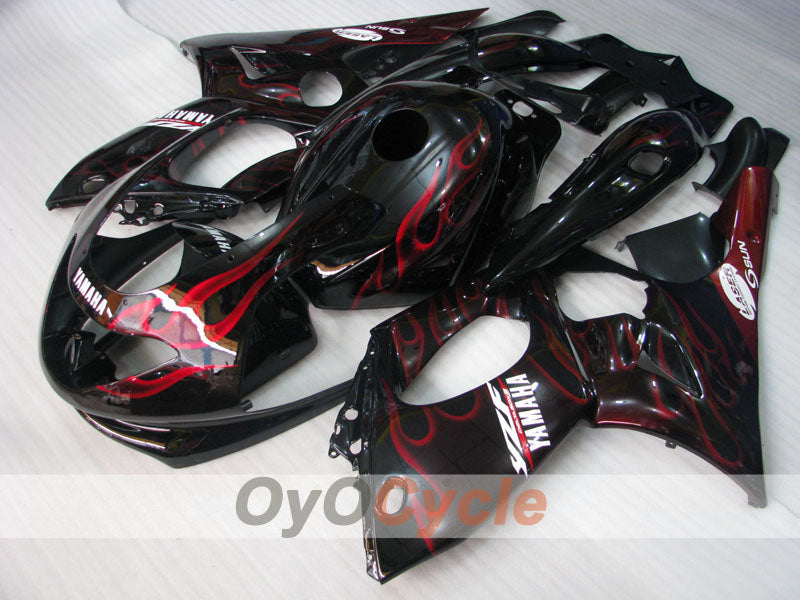 Injection ABS Fairing kit For Yamaha YZF600R 1997-2007 - Red Black - Flame