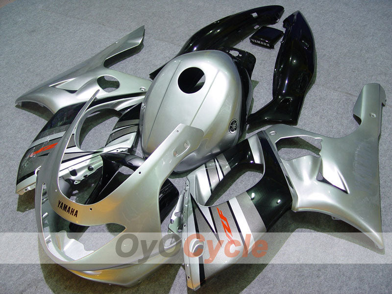 Injection ABS Fairing kit For Yamaha YZF600R 1997-2007 - Black Silver - Factory Style
