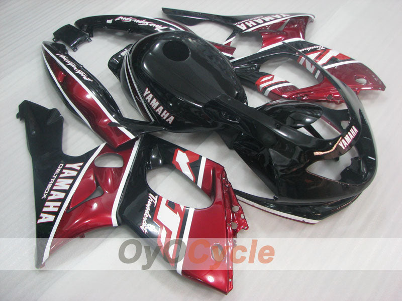 Injection ABS Fairing kit For Yamaha YZF600R 1997-2007 - Red Wine Color, Black - Factory Style