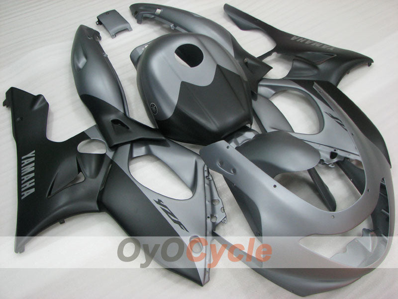Injection ABS Fairing kit For Yamaha YZF600R 1997-2007 - Black Grey - Factory Style