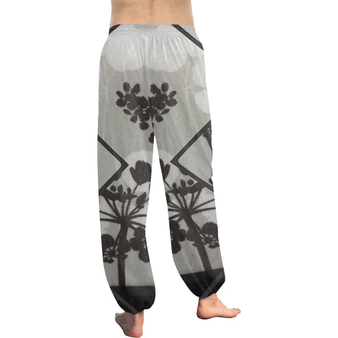 Abstract Flowering Tree Women's Harem Pants - dianadu-designs