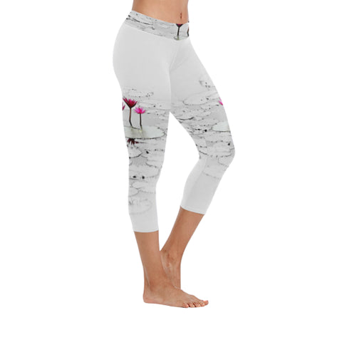 Lotus Pond Low Rise Capri Leggings - dianadu-designs