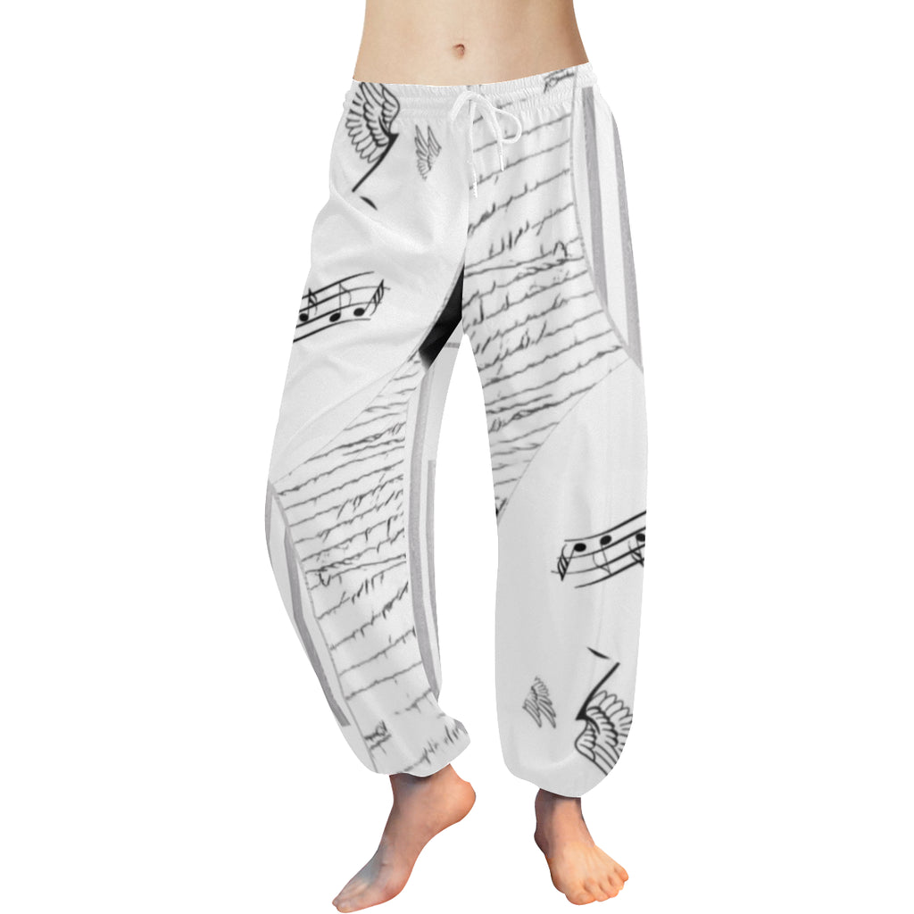 Montage in Black and White Women's Harem Pants - dianadu-designs