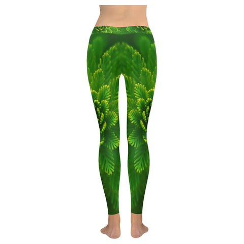 Fanciful Fern Low Rise Leggings - dianadu-designs
