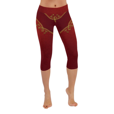 Marooned Low Rise Capri Leggings - dianadu-designs