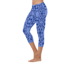 Blue Vintage Low Rise Capri Leggings