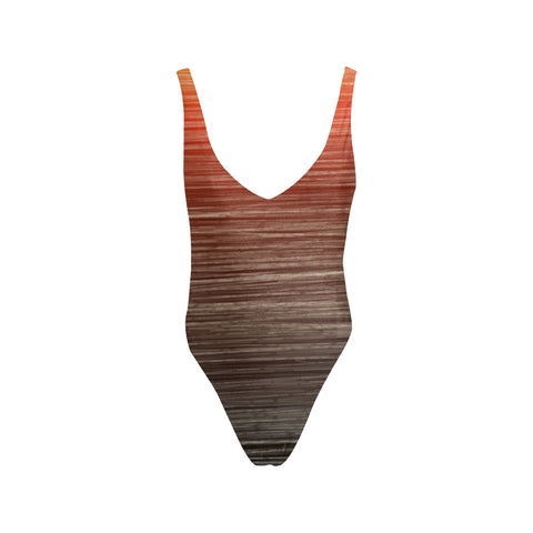 Summer Sunset Women's Thin Strap Backless Swimsuit - dianadu-designs