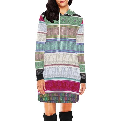 Wrapped Up Women's Hoodie Mini Dress - dianadu-designs