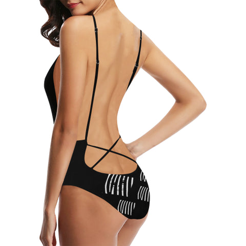The Prisoner Women's Backless One-Piece Swimsuit - dianadu-designs