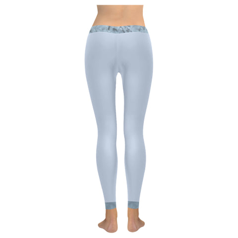 Icy Pearls Low Rise Leggings (Cuffs and Waistband) - dianadu-designs