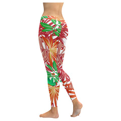 Autumn Leaves Low Rise Leggings