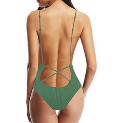 Simply Green Women's Backless One-Piece Swimsuit