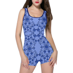 Blue Vintage Women's One Piece Romper - dianadu-designs