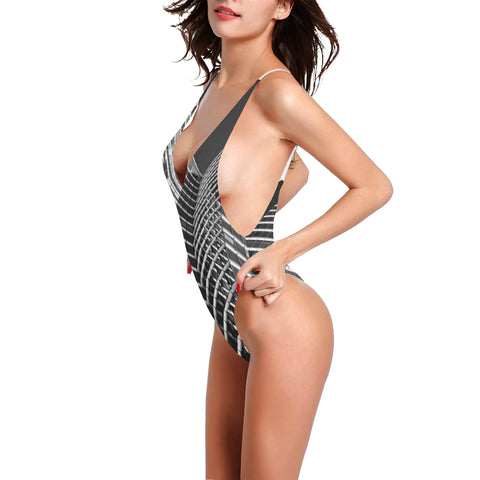 Skylight Splendor Women's Thin Strap Backless Swimsuit - dianadu-designs
