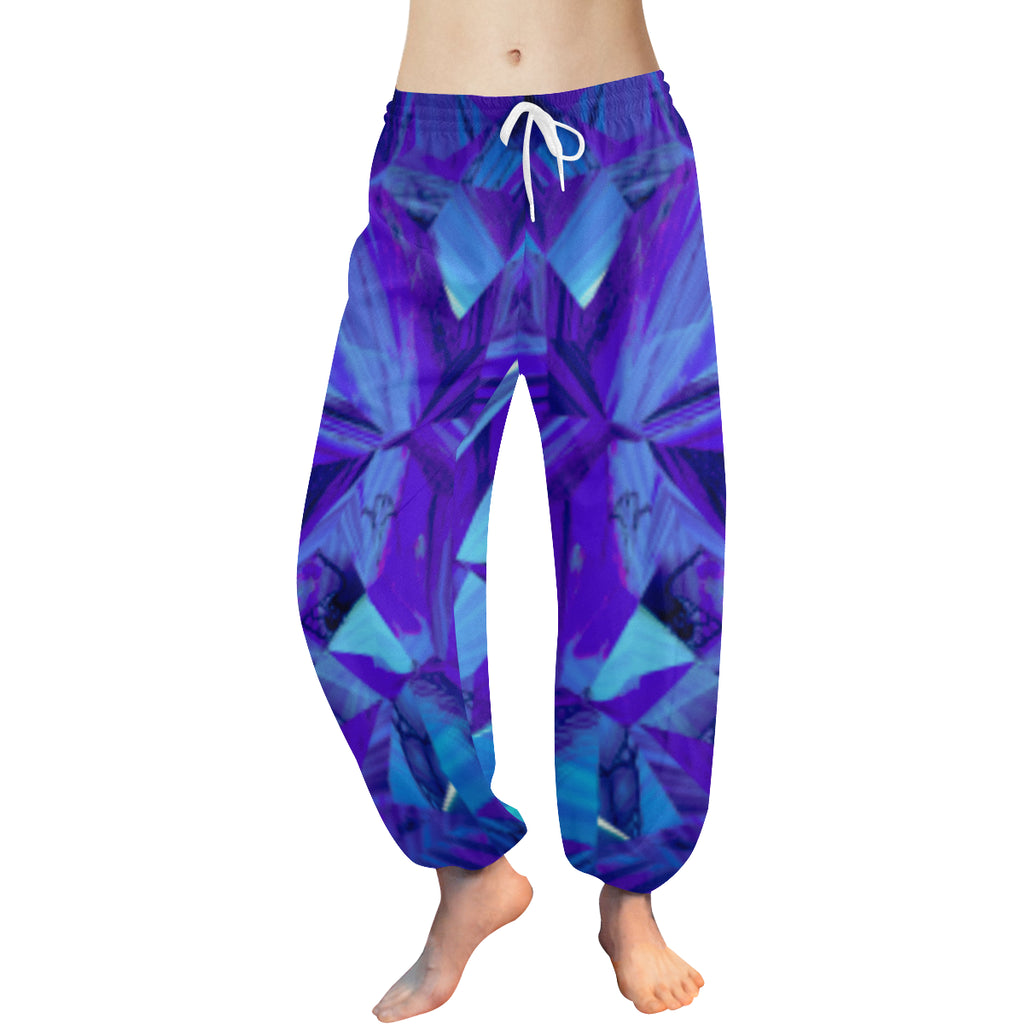 Blue Fractals Women's Harem Pants - dianadu-designs