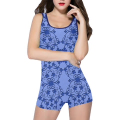Blue Vintage Women's One Piece Romper