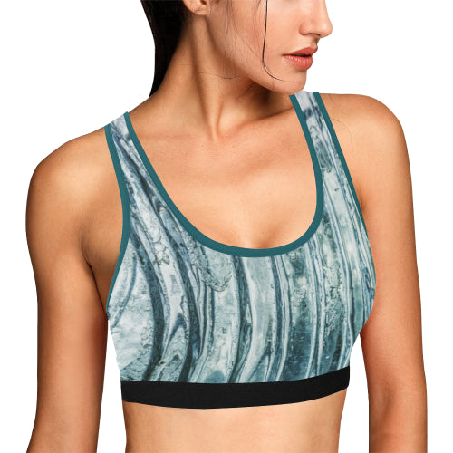 Windowpanes Women Sports Bra - dianadu-designs