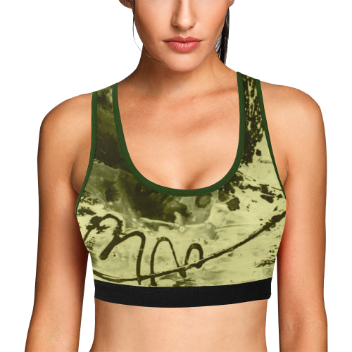 Camo Graffiti Women's Sports Bra - dianadu-designs
