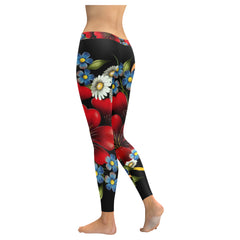 Flower Garden Low Rise Leggings
