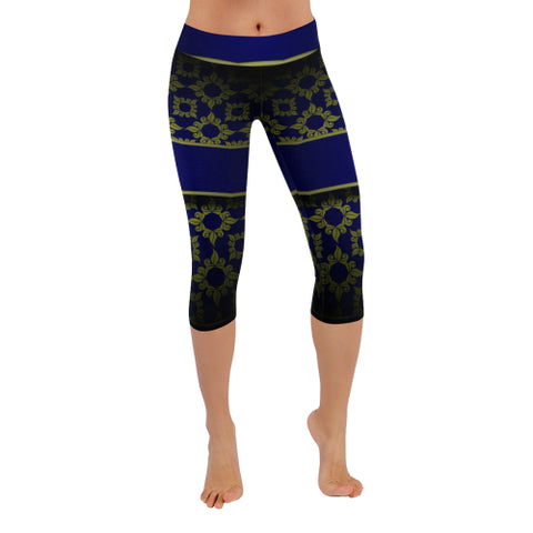 Banded Beauty All-Over Low Rise Capri Leggings - dianadu-designs