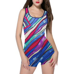 Seaweed Dancing Women's One Piece Romper - dianadu-designs