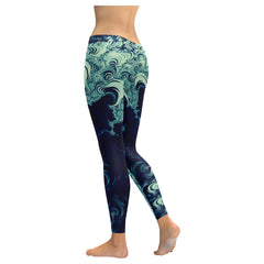 Fractals Low Rise Leggings