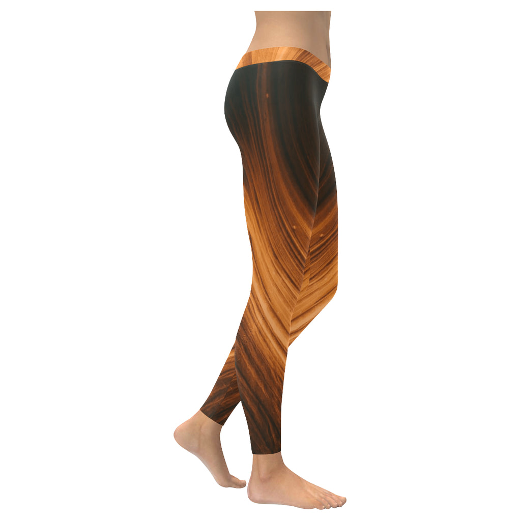Blonde Waves Low Rise Leggings - dianadu-designs