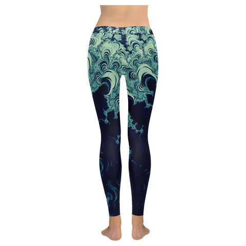 Fractals Low Rise Leggings - dianadu-designs