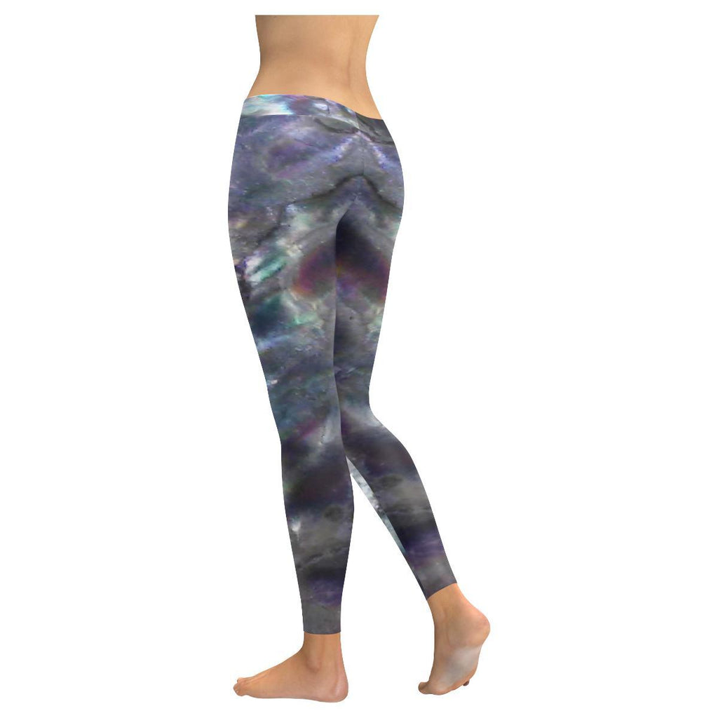 Abalone Landscape Low Rise Leggings - dianadu-designs