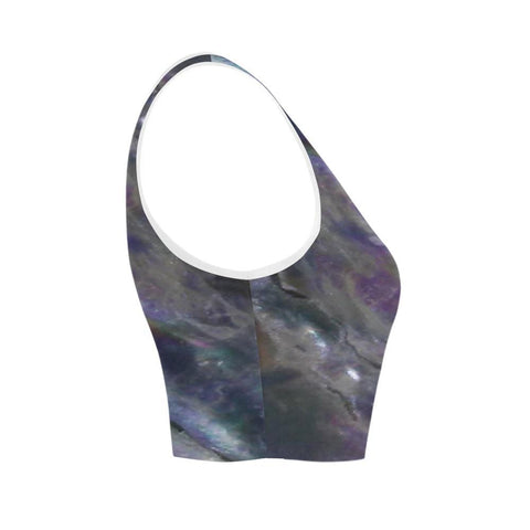 Abalone Landscape Women's Fitted Crop Top - dianadu-designs