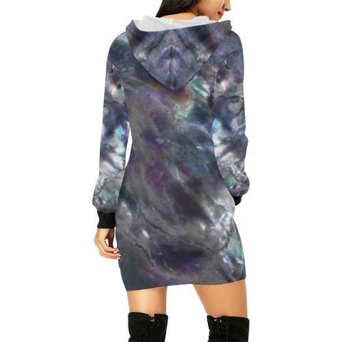 Abalone Landscape Women's Hoodie Mini Dress - dianadu-designs