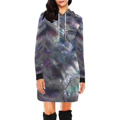 Abalone Landscape Women's Hoodie Mini Dress