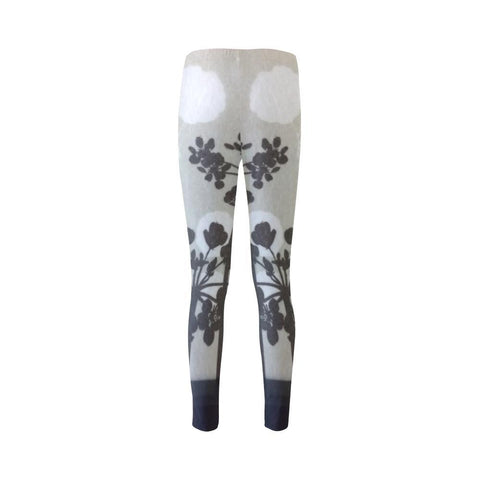 Abstract Flowering Tree High-Waist Leggings - dianadu-designs