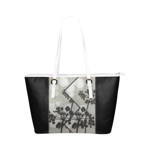 Abstract Flowering Tree Leather Tote Bag - dianadu-designs