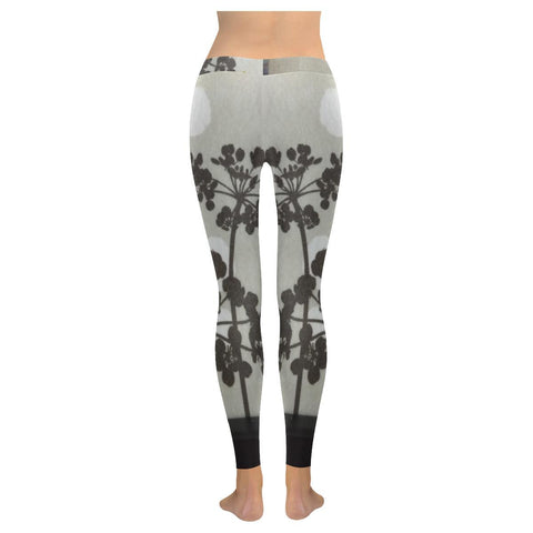 Abstract Flowering Tree Low Rise Leggings - dianadu-designs