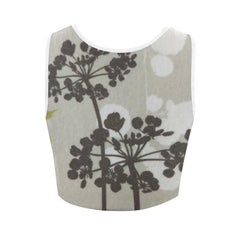 Abstract Flowering Tree Women's Fitted Crop Top