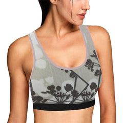 Abstract Flowering Tree Women's Sports Bra
