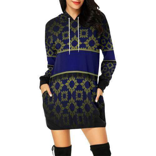 Banded Beauty Women's Hoodie Mini Dress - dianadu-designs