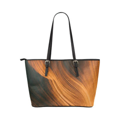 Blonde Waves Leather Tote Bag