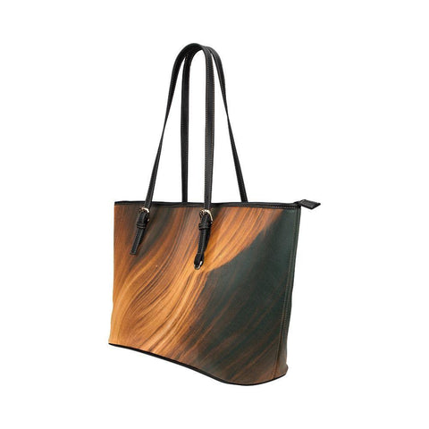 Blonde Waves Leather Tote Bag - dianadu-designs