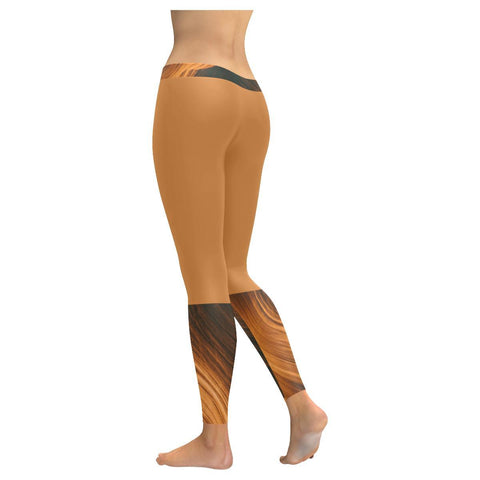 Blonde Waves Low-Rise Leggings - dianadu-designs