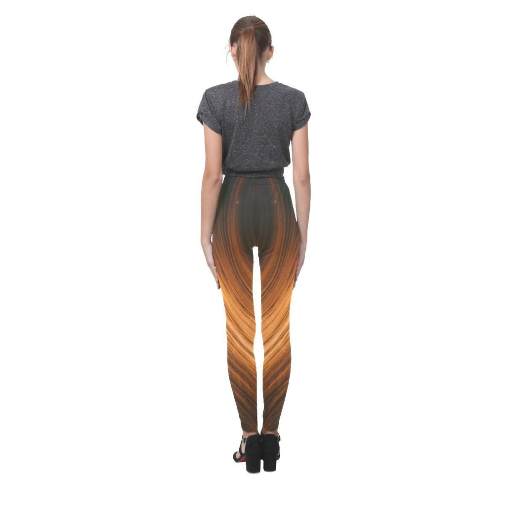 Blonde Waves Women's High-Waist Leggings - dianadu-designs