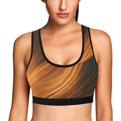 Blonde Waves Women's Sports Bra - dianadu-designs