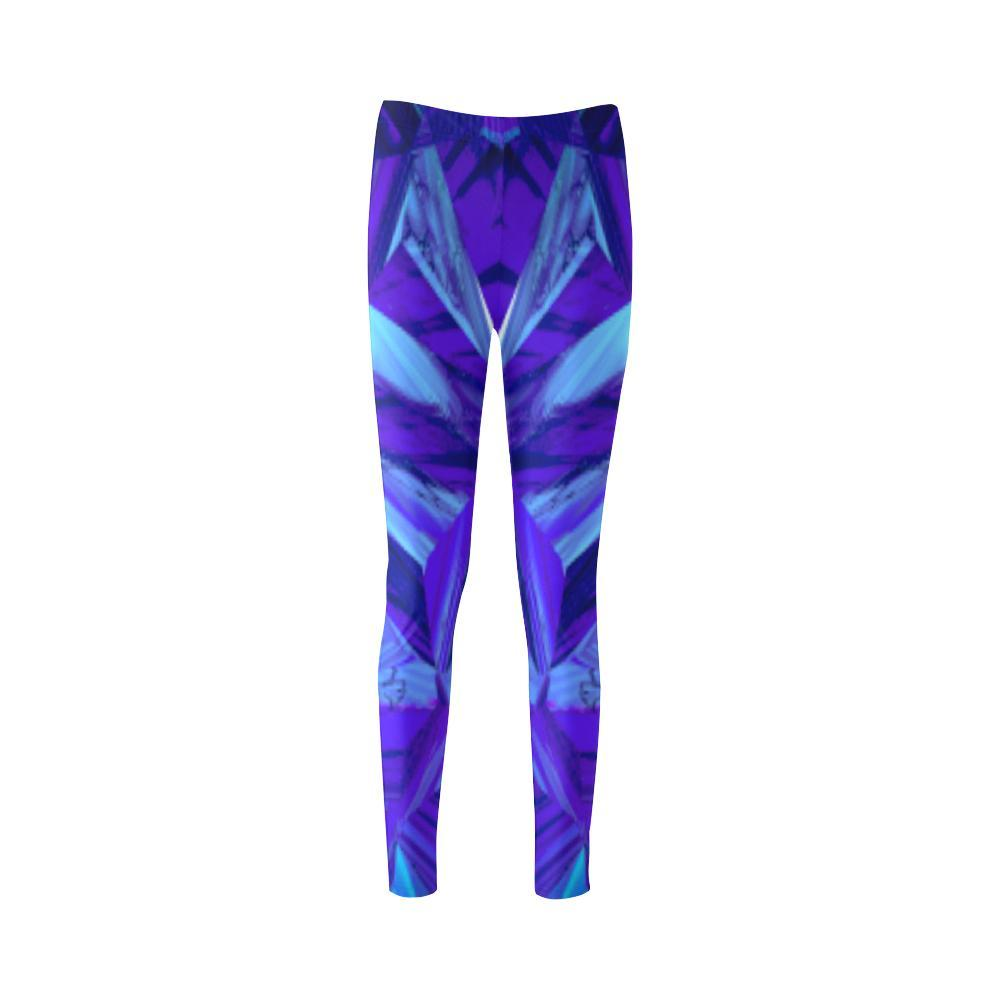 Blue Fractals High-Waist Leggings - dianadu-designs