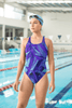 Image of Blue Fractals One-Piece Swimsuit - dianadu-designs